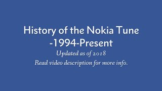 Nokia Tune Evolution (1994-Present)