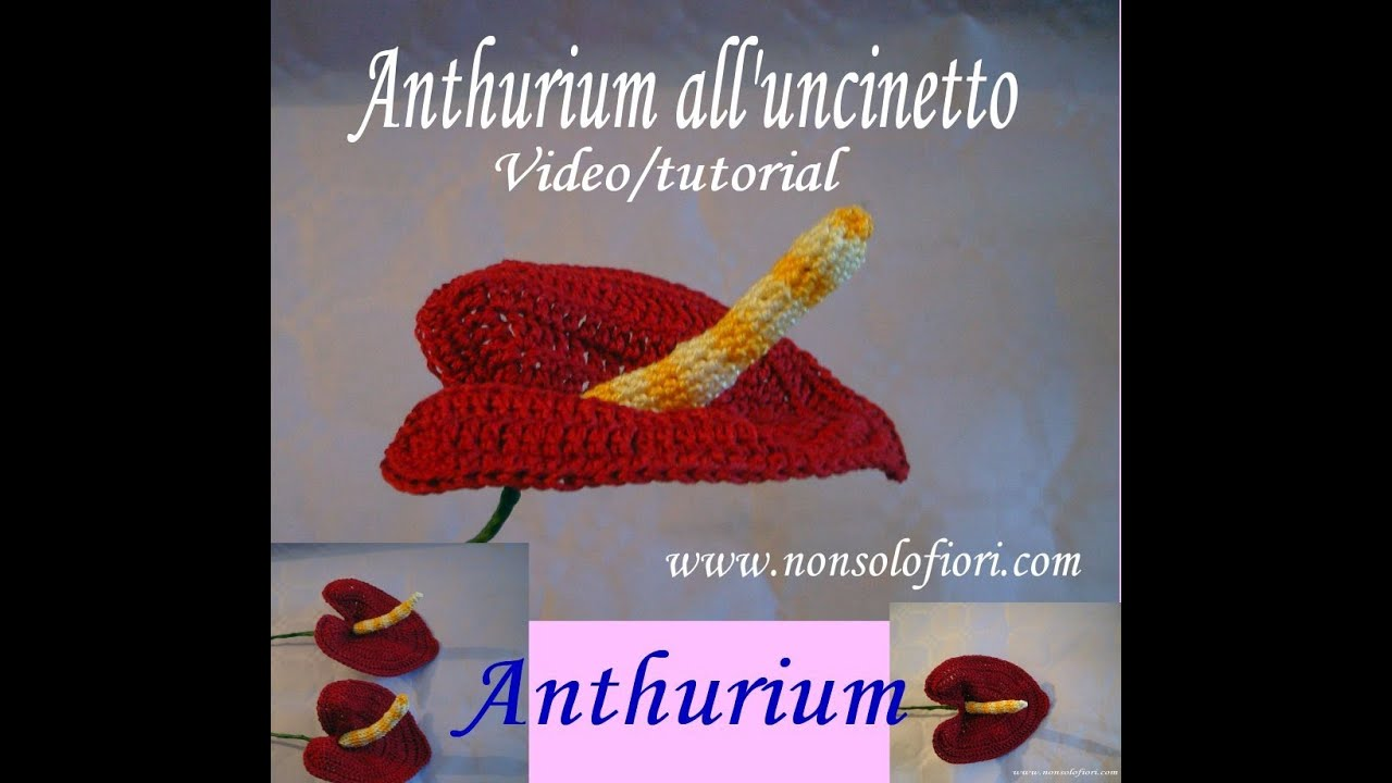Anthurium all uncinetto Anthurium crocheted