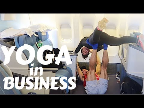 ACROYOGA ON A PLANE (with my brother Wil Dasovich)
