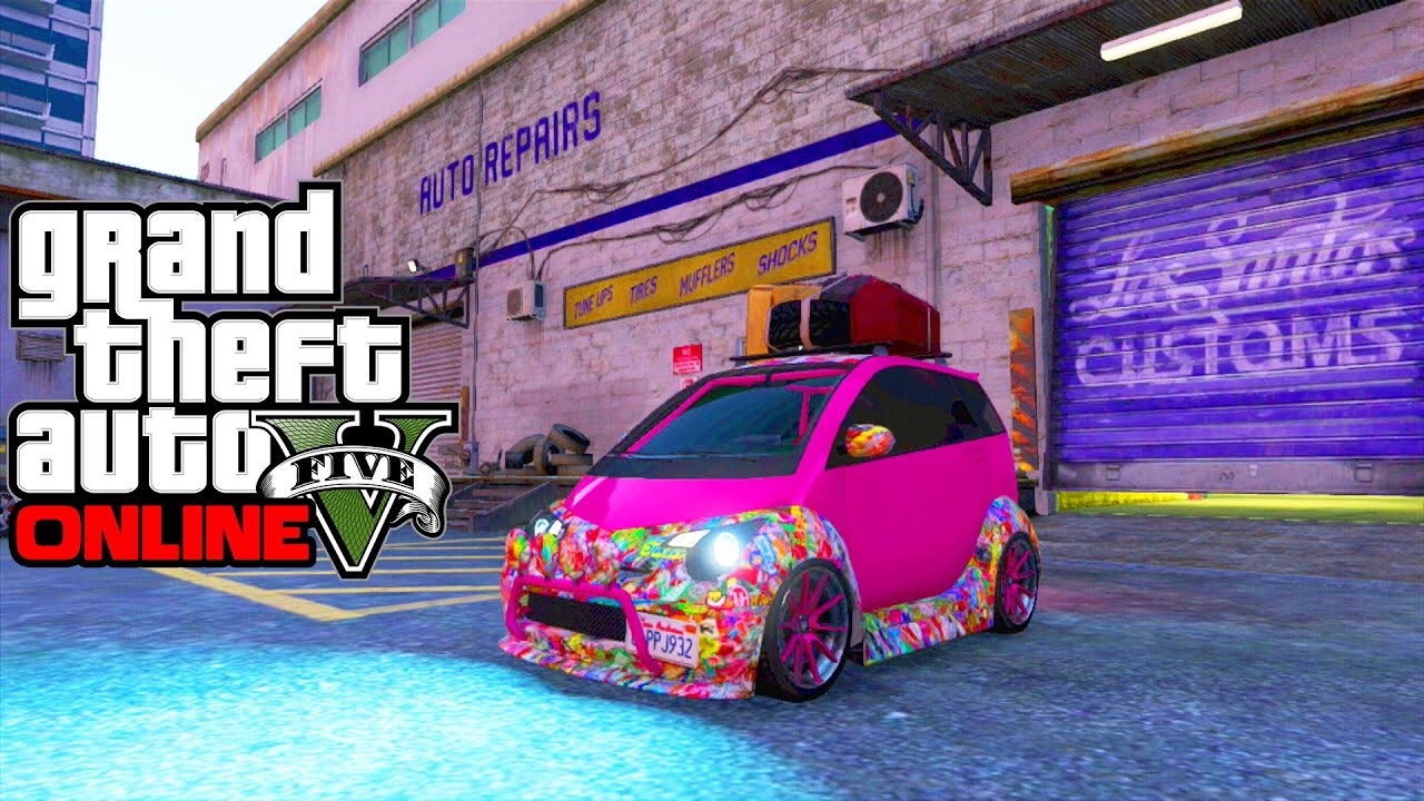 Smart car sticker designs - Gta 5 Smart Car Benefactor Panto Car Customization Showcase Hipster Dlc Gta 5 Smart Car Youtube