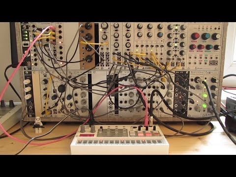 Live Jam #48 - Industrial / Electro / Triphop - Eurorack modular system synced to Korg Volca Sample