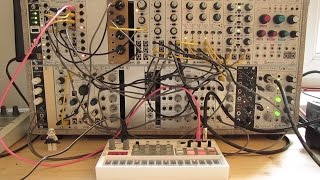 Live Jam #48 - Industrial / Electro / Triphop - Eurorack modular system synced to Korg Volca Sample