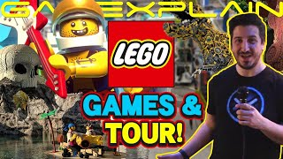 GameXplain's Lego HQ Adventure! Behind-the-Scenes Tour, Legoland + Hands-On w/ NEW Mobile Games