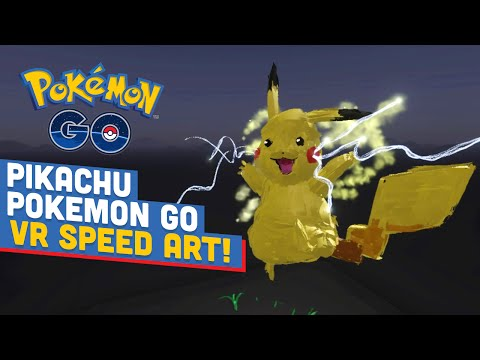 PIKACHU POKEMON GO 3D SPEED ART! -  Art of Gaming VR