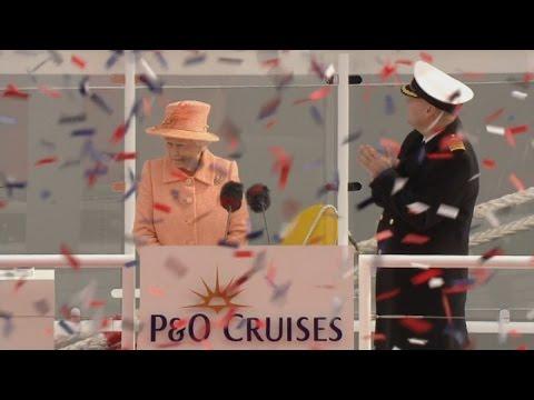 Queen names new cruise liner Britannia