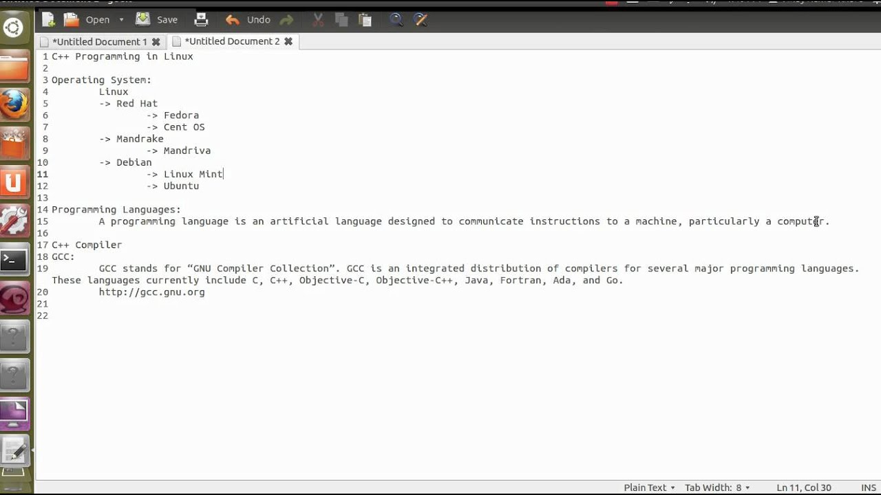 C++ Programming in Linux, 1  Intro