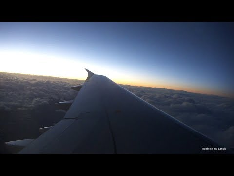 turbulence ✈ jet stream flight over Morocco (A320) - turn on the speaker