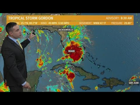 9/3/2018 Update on Tropical Storms Gordon and Florence
