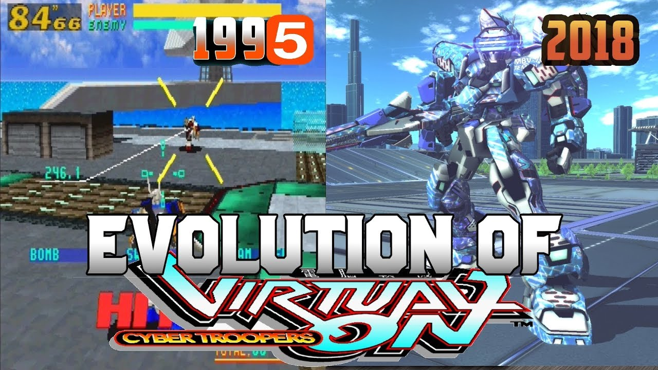 Graphical Evolution of Virtual On (1995-2018)