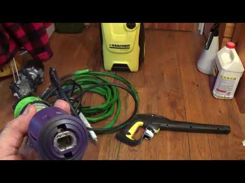 karcher hose adaptor for old and new quick connect hoses