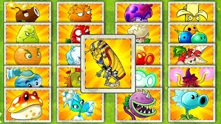 Pharaoh Zombie Plants vs Zombies 2 Every Premium and Free Plants Power UP vs Pharaoh Zombies PVZ 2