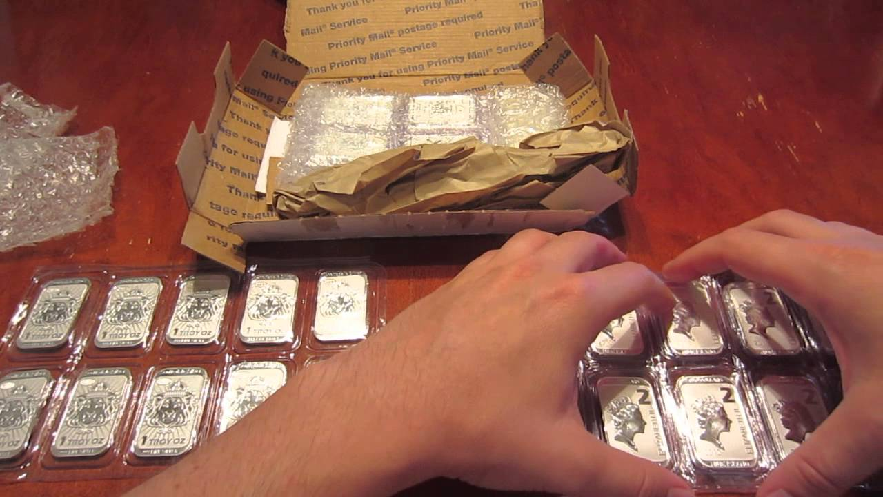 Unboxing Scottsdale Silver Niue Coinbar And 10 Oz Hand