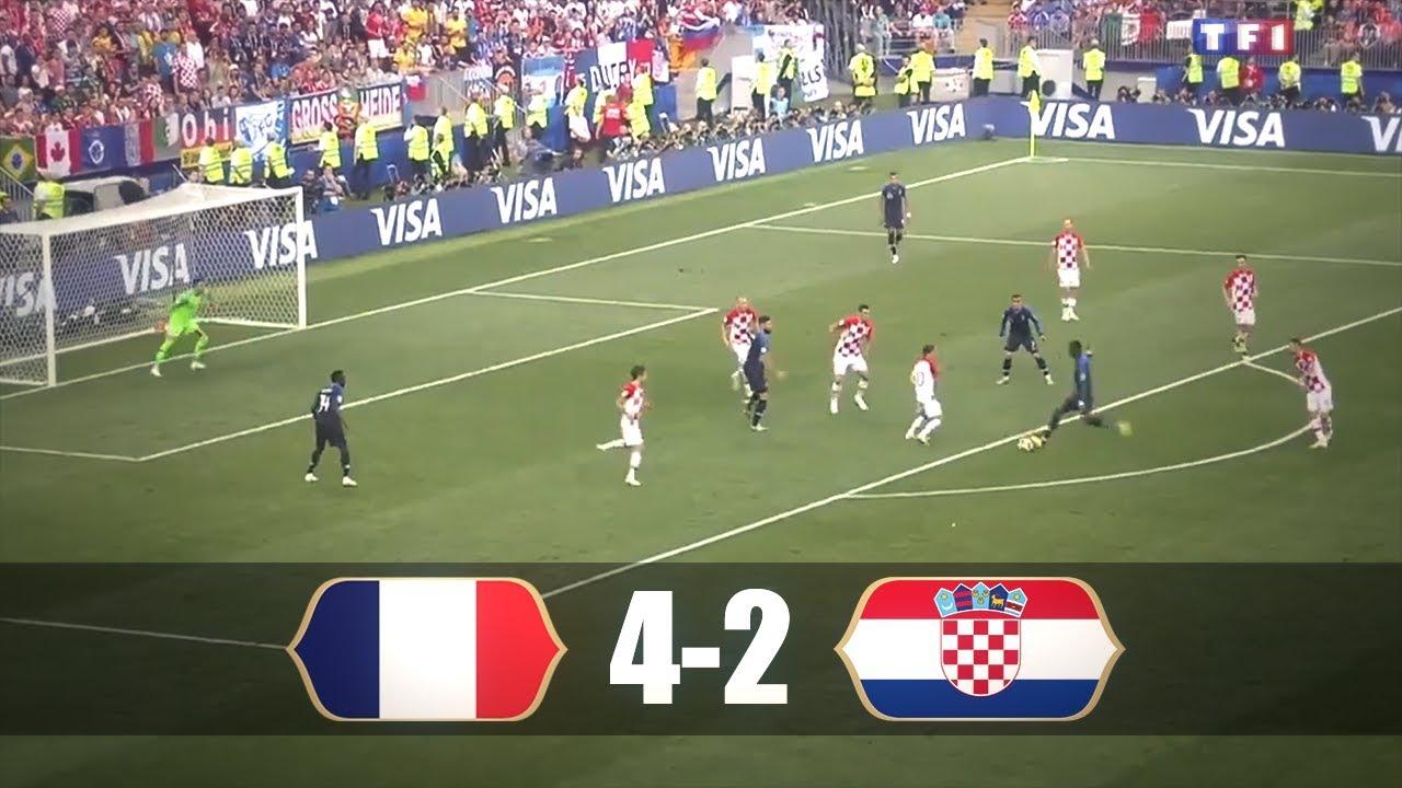 France 4 2 Croatie Les Buts Sur Tf1 Finale Coupe Du Monde Youtube