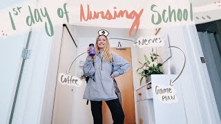 Come along with my on my first day of nursing school | Kiara Madisen