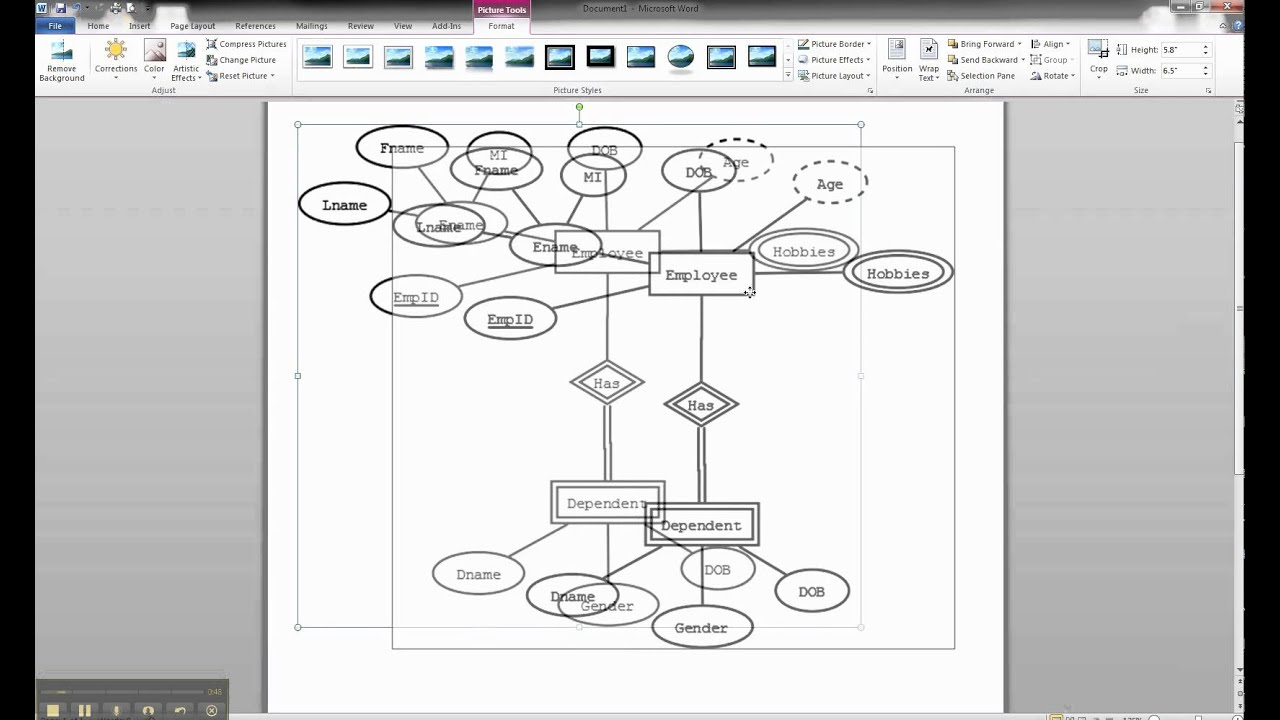 Er Diagrams In Dia - Importing Er Diagram Into Ms Word