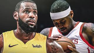 I DON'T LIKE LEBRON JAMES RESPONSE TO BEING ASKED ABOUT CARMELO POTENTIALLY BEING A LAKER! *NO VIDEO