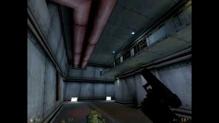 Half-Life: Day One beta demo - Scaring G-Man by shooting him