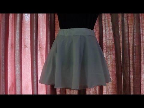 Round Mini Skirt Cutting and Stitching