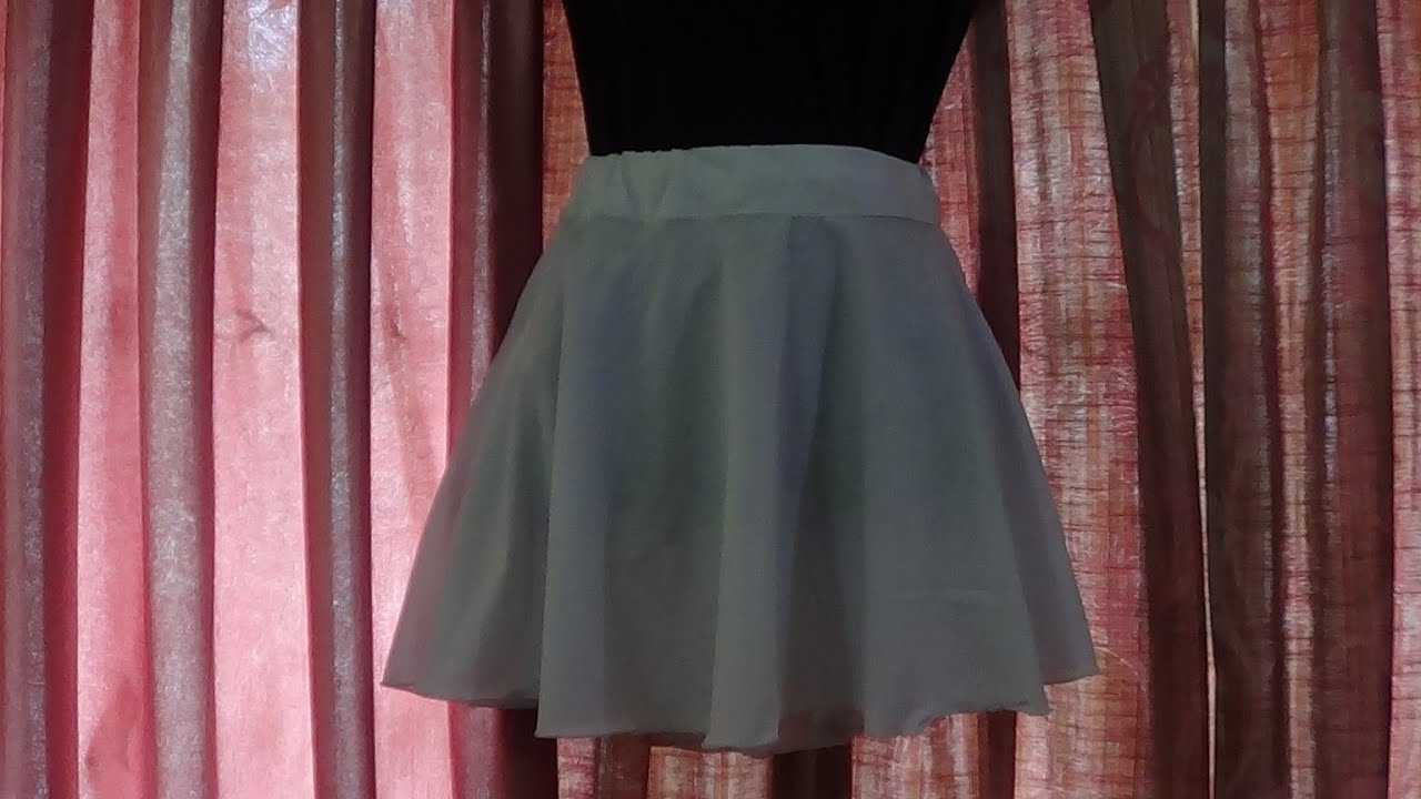 Round Mini Skirt Cutting and Stitching - YouTube