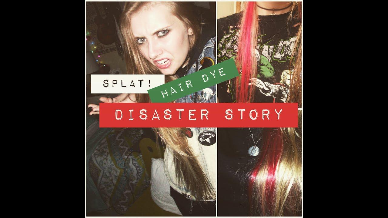 Splat Hair Dye Disaster Story Youtube