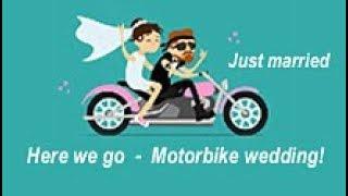 Just married  -  Motorbike wedding  -  Svatba motorkářů