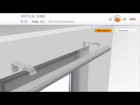 jalousie montageanleitung f r vertikal lamellen. Black Bedroom Furniture Sets. Home Design Ideas