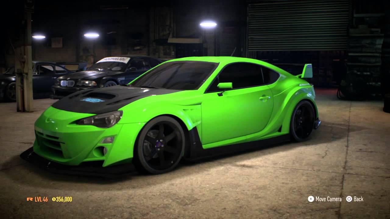 need for speed 2015 subaru brz premium bodykit tuning ps4 gameplay