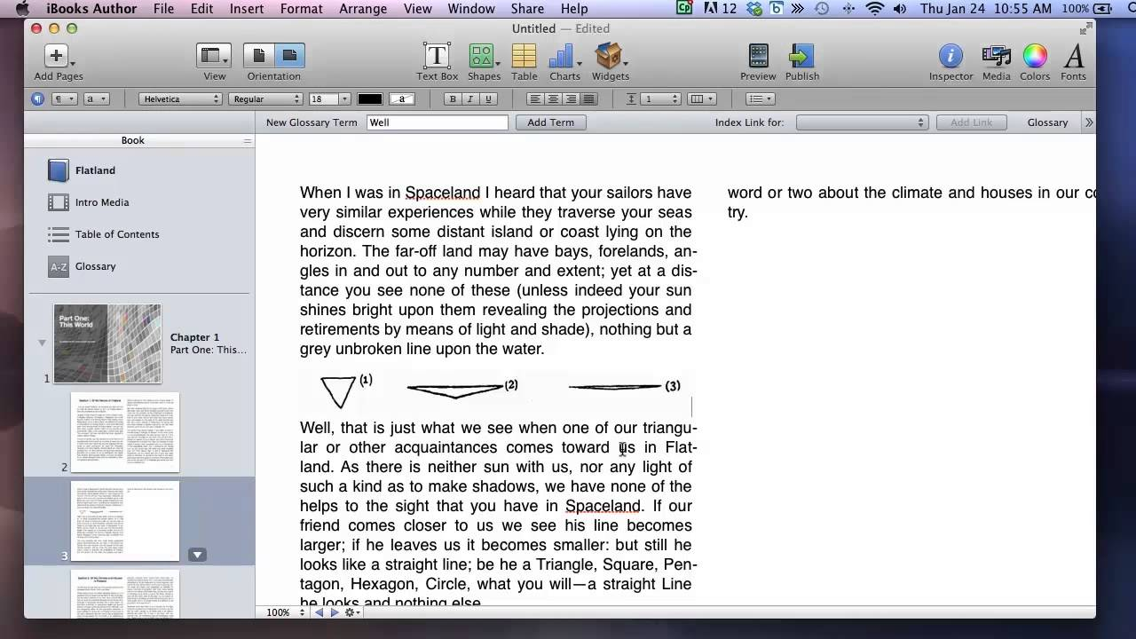 Starting your project in iBooks Author tutorial