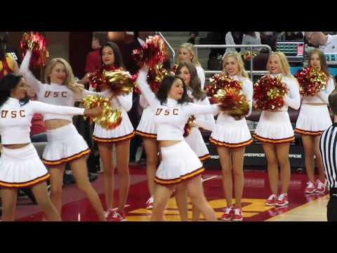 USC Song Girls - Timeout of USC vs Washington 3/4/2017