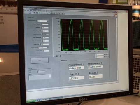 Using LabVIEW to acquire high frequency pulse signals