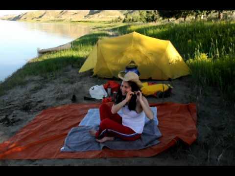 South Saskatchewan River Camping and Canoe Trip. Alberta, Canada July 2011