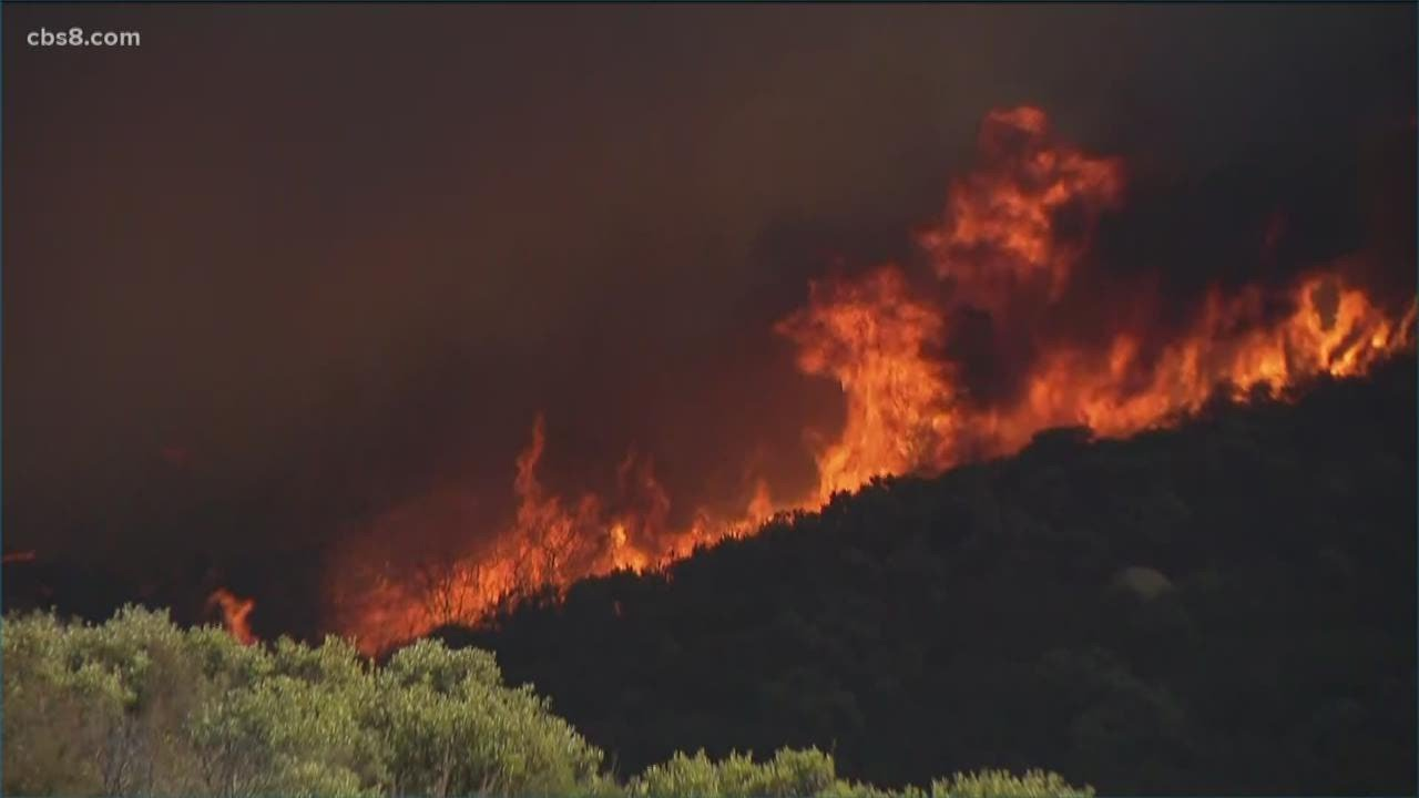 Valley Fire burns thousands of acres south of Alpine, California ...