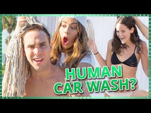HUMAN CAR WASH CHALLENGE?! | Do It For The Dough w/ Tessa Brooks