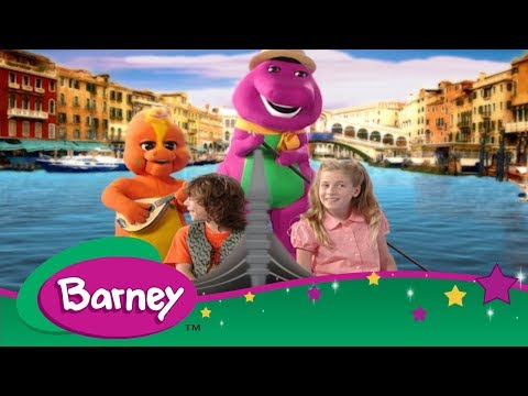 Barney 📖 Barney's Travel Book: Italy 🍕 Let's Go on Vacation ✈️