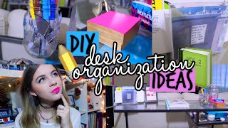 Diy Desk Organization & Affordable Decor Ideas! + Study Tips! (tumblr & Pinterest Inspired)