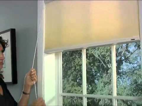 How To Close Blinds >> Bali Cellular Shades with Continuous Cord Loop Lift Demo - YouTube