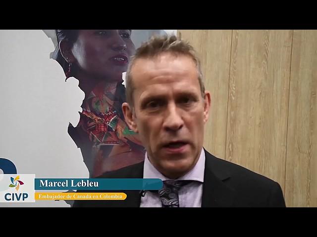 Marcel Lebleu saluda a la CIVP