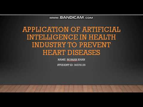 Application of AI In health industry