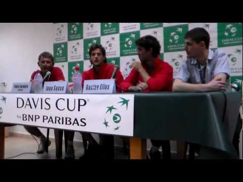 Davis Cup 2012 - Israel vs Portugal - Press conference with Joao Sousa & Gastao Elias