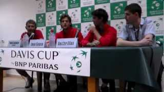Davis Cup 2012 - Israel vs Portugal - Press conference with Joao Sousa & Gastao Elias
