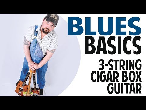 How to Play Blues Basics on 3String Cigar Box Guitar with a Slide