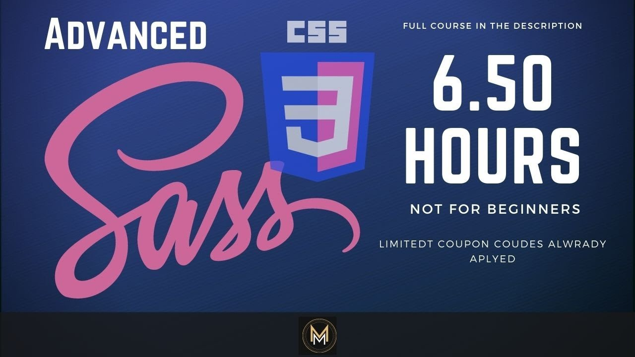 CSS and SASS Course including Project