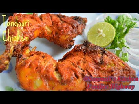 How To Prepare Tandoori Chicken Recipe In Oven   Roasted Chicken Leg Recipe