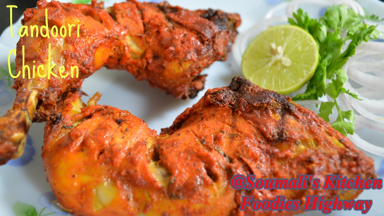 How To Prepare Tandoori Chicken Recipe In Oven  Roasted Chicken Leg Recipe