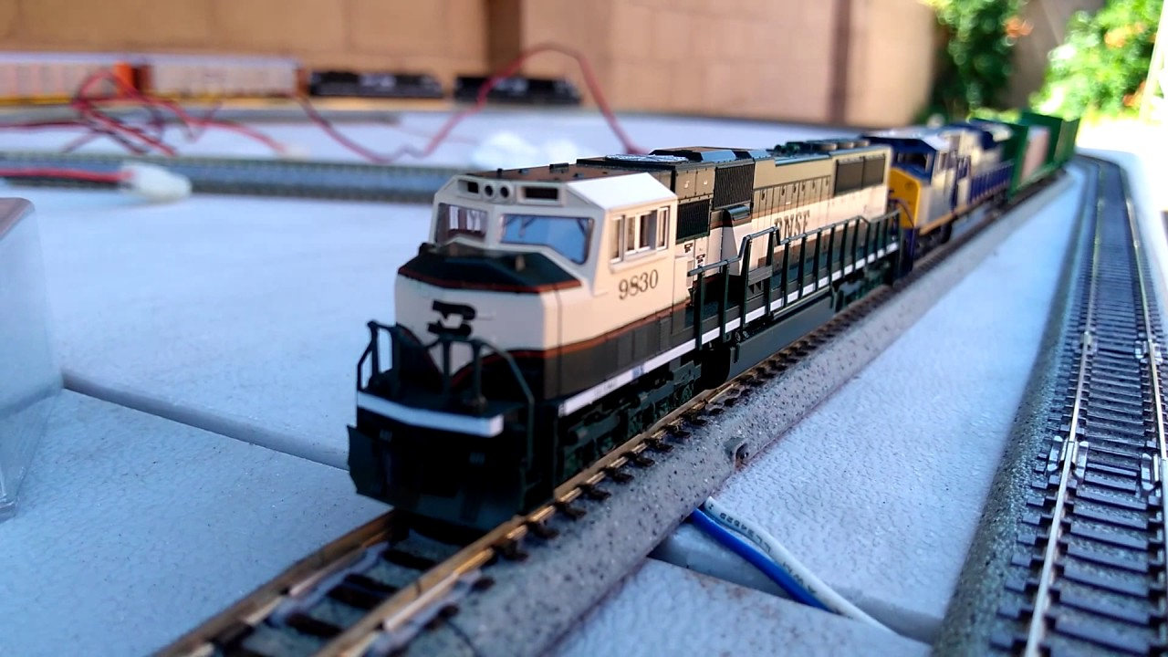 Model Train Racks : Some of my n scale model train collection featuring