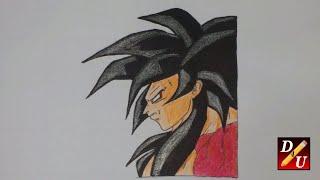 How To Draw SUPER SAIYAN 4  GOKU Cara Menggambar SUPER SAIYAN 4 GOKU  كيف ترسم صورة
