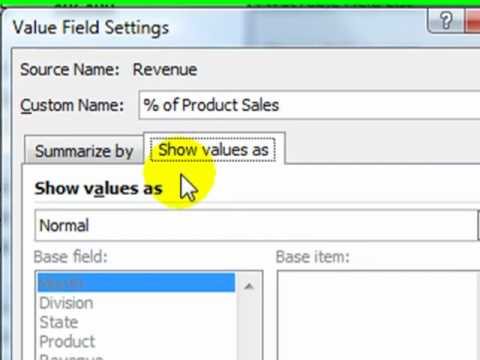 "How to add ""Show Value As"" calculations to your Excel Pivot Table"