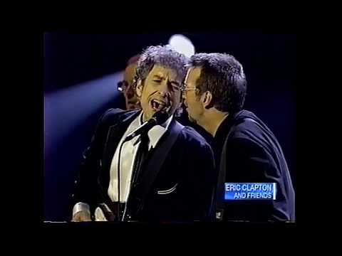 Bob Dylan + Eric Clapton - Don't Think Twice + Crossroads   MSG NYC 6/30/99
