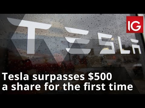 Tesla surpasses $500 a share for the first time