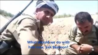 Курды взяли в плен игиловца. Русские субтитры.